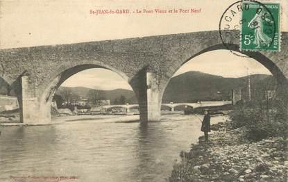 """/ CPA FRANCE 30 """"Saint Jean du Gard, le pont vieux et le pont Neuf"""""""