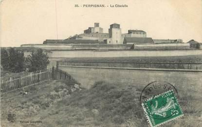 """/ CPA FRANCE 66 """"Perpignan, la citadelle"""""""