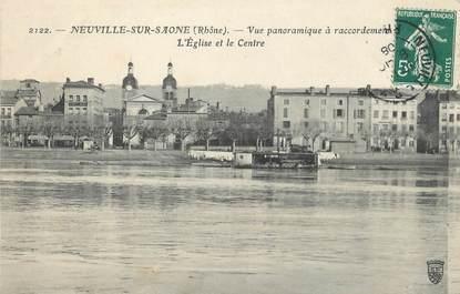 "/ CPA FRANCE 69 ""Neuville sur Saone, vue panoramique"""