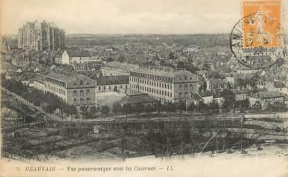 """/ CPA FRANCE 60 """"Beauvais, vue panoramique avec les casernes"""""""