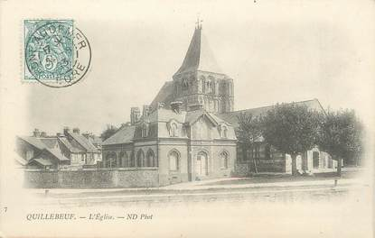 "/ CPA FRANCE 27 ""Quillebeuf, l'église"""