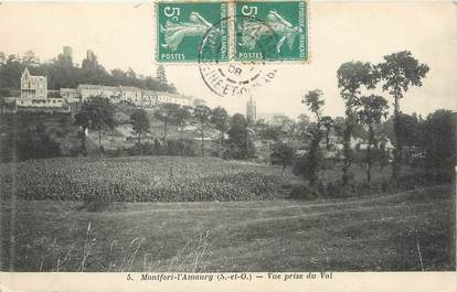 "/ CPA FRANCE 78 ""Montfort l'Amaury, vue prise du val"""