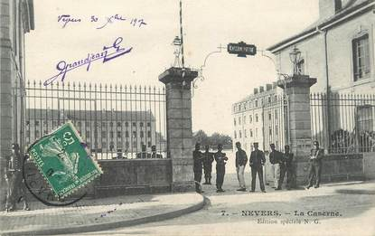 "/ CPA FRANCE 58 ""Nevers, la caserne"""