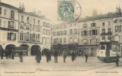 """/ CPA FRANCE 88 """"Epinal, place des Vosges vers la rue Saint Goëry"""""""