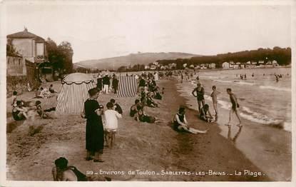 """CPSM FRANCE 83 """"Sablettes les Bains, env. de Toulon, la Plage"""""""
