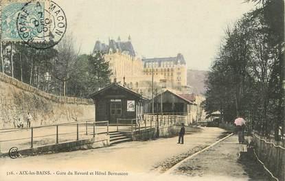 "CPA FRANCE 73 ""Aix les Bains, gare du Revard"""