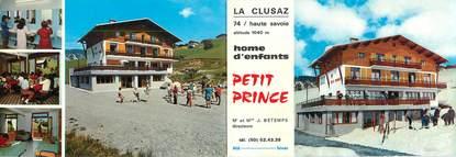 """/ CPSM FRANCE 74 """"La Clusaz, home d'enfants, le petit Prince"""" / LIVRET"""