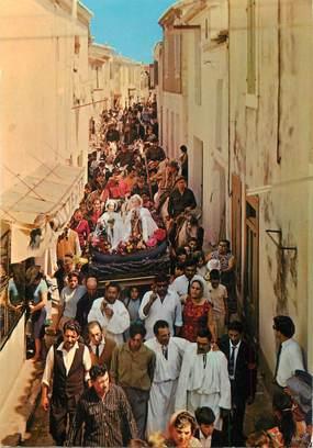 """/ CPSM FRANCE 13 """"Les Saintes Maries de la Mer, la procession des Saintes Salome et Jacobe"""""""