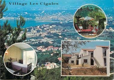 """/ CPSM FRANCE 83 """"Six Fours Les Plages, village Les Cigales, vue aérienne"""""""