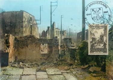 """CPSM FRANCE 87 """"Oradour sur Glane, les ruines"""" CARTE MAXIMUM"""