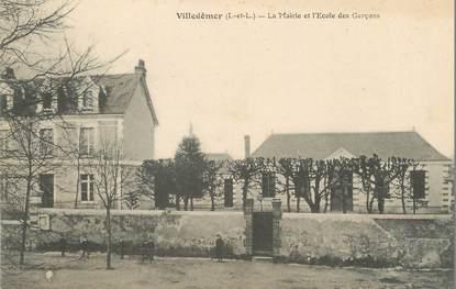 """/ CPA FRANCE 37 """"Villedômer, la mairie et l'école des garçons"""""""