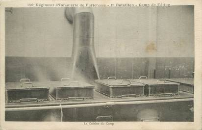 """/ CPA FRANCE 57 """"Camp de Teting, régiment d'infanterie de Forteresse 1er bataillon"""""""