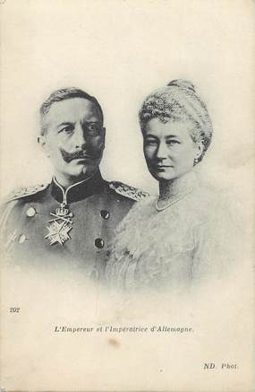 "CPA GUILLAUME II ""Empereur et impératrice d'Allemagne"""