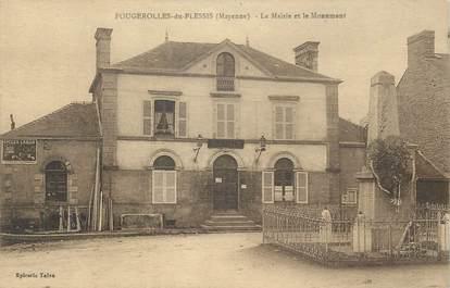 """/ CPA FRANCE 53 """"Fougerolles du Plessis, la mairie et le monument"""""""