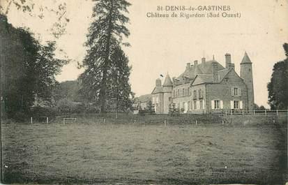 """/ CPA FRANCE 53 """"Saint Denis de Gastines, château de Rigardon"""""""