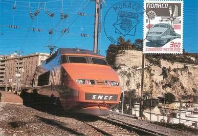 CPSM TRAIN  / MONACO / CARTE MAXIMUM