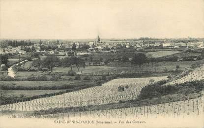 """/ CPA FRANCE 53 """"Saint Denis d'Anjou, vue des coteaux"""""""