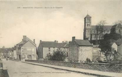 """/ CPA FRANCE 53 """"Montsurs, route de la chapelle"""""""