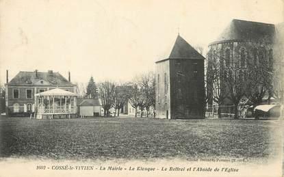 """/ CPA FRANCE 53 """"Cossé Le Vivien, la mairie, le kiosque"""""""