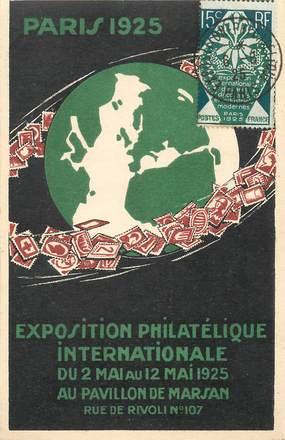 CPA CARTE MAXIMUM / Exposition philatélique 1925