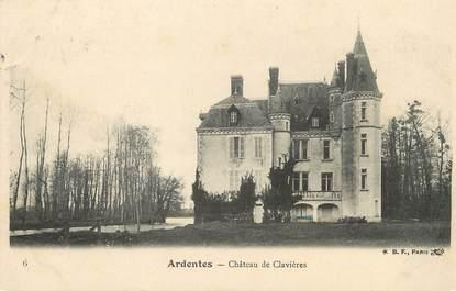 """/ CPA FRANCE 36 """"Ardentes, château de Clavières"""""""