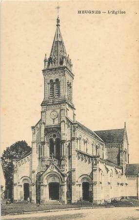 """/ CPA FRANCE 36 """"Heugnes, l'église"""""""