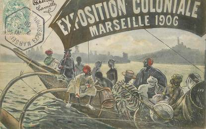 """/ CPA FRANCE 13 """"Marseille, Exposition coloniale, 1906"""""""