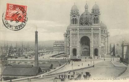 """/ CPA FRANCE 13 """"Marseille, la cathédrale et la Joliette"""""""