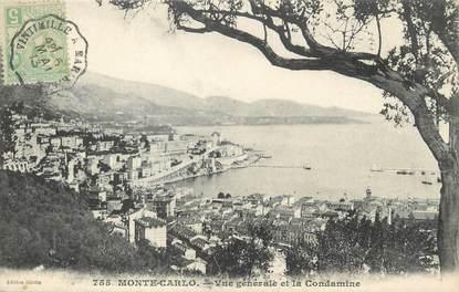 "/ CPA MONACO ""Monte Carlo, vue générale et la Condamine"""