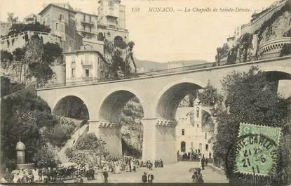 """/ CPA MONACO """"La Chapelle de Sainte Dévote"""""""