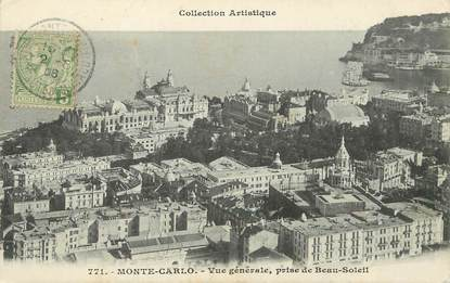 "/ CPA MONACO ""Monte Carlo, vue générale"""
