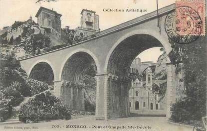 """/ CPA MONACO """"Pont et chapelle Sainte Dévote"""""""
