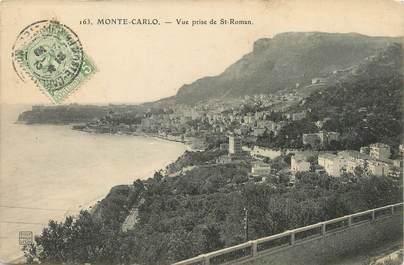 """/ CPA MONACO """"Monté Carlo, vue prise de Saint Roman"""""""