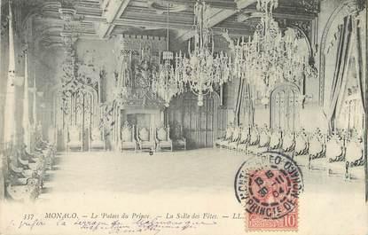 """/ CPA MONACO """"Le palais du Prince, la salle des fêtes"""""""