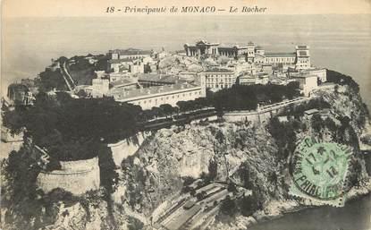 """/ CPA MONACO """"Principauté de Monaco, le rocher"""""""
