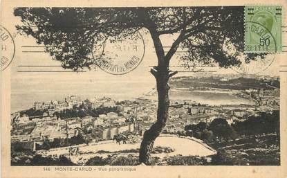 """/ CPA MONACO """"Monté Carlo, vue panoramique"""""""