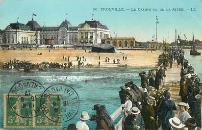 """/ CPA FRANCE 14 """"Trouville, le casino vu de la jetée"""""""