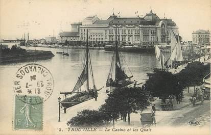 """/ CPA FRANCE 14 """"Trouville, le casino et les quais"""""""