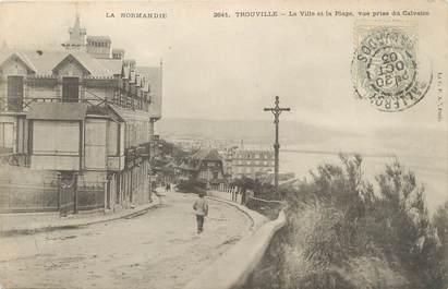 """/ CPA FRANCE 14 """"Trouville, la ville et la plage"""""""