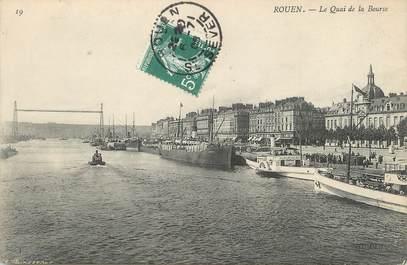 """/ CPA FRANCE 76 """"Rouen, le quai de la bourse"""""""