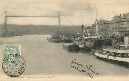 """/ CPA FRANCE 76 """"Rouen, le quai du Hâvre"""""""
