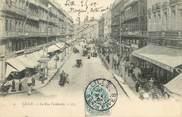"""59 Nord / CPA FRANCE 59 """"Lille, la rue Faidherbe"""" / TIMBRE TAXE"""