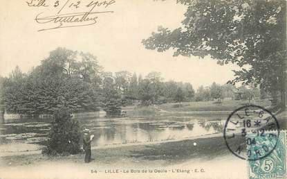 """/ CPA FRANCE 59 """"Lille, Le bois de la Deûle, l'étang"""""""