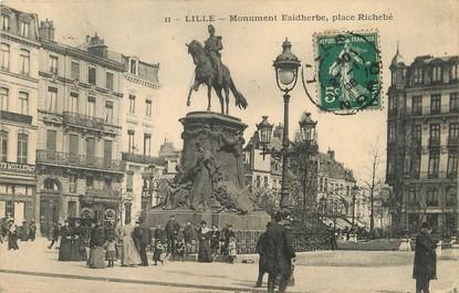 """/ CPA FRANCE 59 """"Lille, monument Faidherbe, place Richebé"""""""