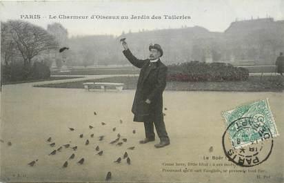 """/ CPA FRANCE 75001 """"Paris, le charmeur d'Oiseaux au jardin des Tuileries"""""""