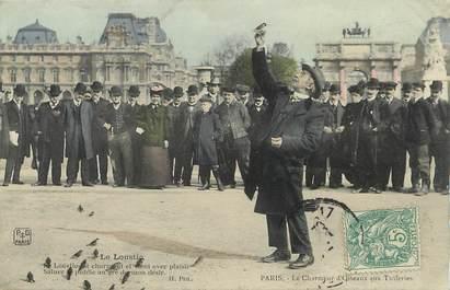 """/ CPA FRANCE 75001  """"Paris, le charmeur d'Oiseaux aux Tuileries, le loustic"""""""