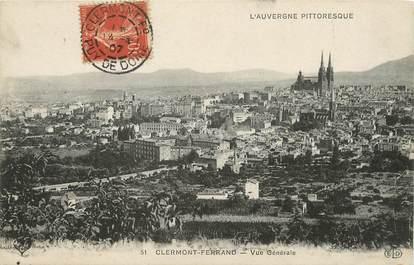 """/ CPA FRANCE 63 """" Clermont Ferrand, vue générale """""""