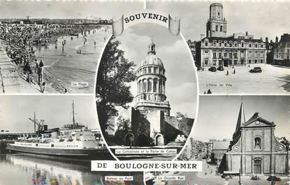 """/ CPSM FRANCE 62 """"Souvenir de Boulogne sur Mer"""""""
