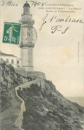 "/ CPA FRANCE 06 ""Saint Jean Cap Ferrat, le phare"""