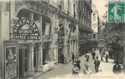"""/ CPA FRANCE 75002 """"Paris, Le théatre Parisana, bld Poissonnière"""" / KINEPHONE"""